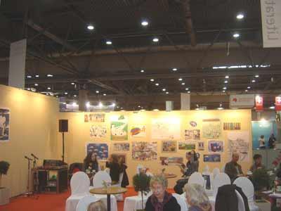 Illufabrik Ausstellung im Literaturcafé des Leipziger Buchmesse 2011
